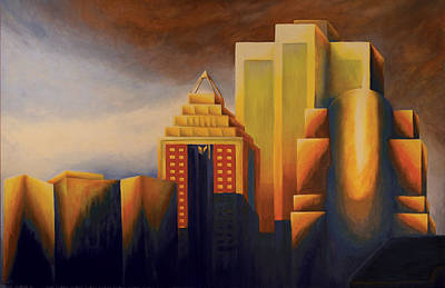 Montreal Painting - Sunset On The Montreal Skyline by Duane Gordon