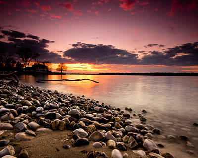 Canada Photograph - Sunset On The Rocks by Cale Best