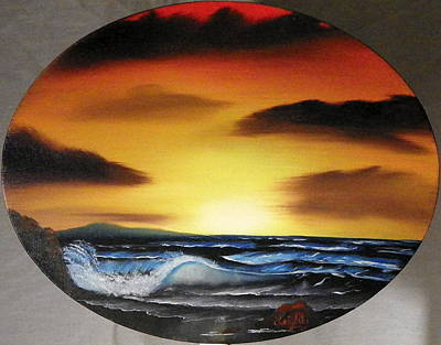 Painting - Sunset On The Seashore by Amity Traylor