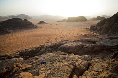Sunset Over Jordan Wadi Rum Rock Print by Jason Jones Travel Photography
