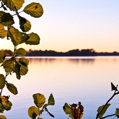 Orebro Photograph - Sunset Over Lake Hjalmaren by Christian Lundgren