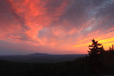 Sunset Over Mount Monadnock From North Pack Print by John Burk