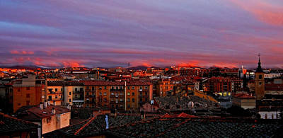 Sunset Over Segovia ... Print by Juergen Weiss
