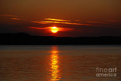 Sunset Over Silver Lake Sand Dunes Print by Grace Grogan