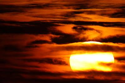Sunset Over The Mecsek Mountains Print by Joe Petersburger