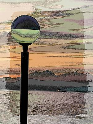 Sound Digital Art - Sunset Over The Olympics by Tim Allen