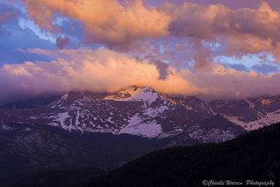 Sunset Over The Rockies Print by Charles Warren