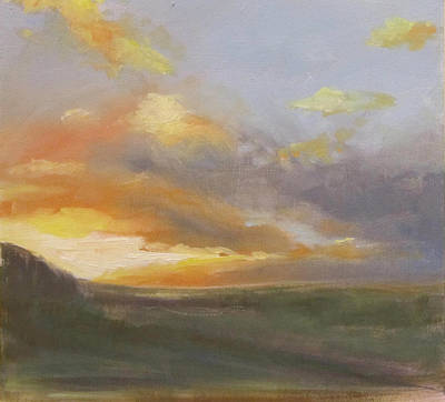 Sunset Over The Valley Print by Podi Lawrence