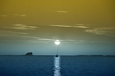 Sailboat Photograph - Sunset Sails by Bill Cannon