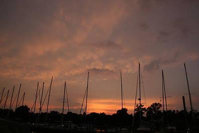 Sunset Sky Annapolis Print by Valia Bradshaw