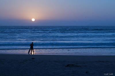 Sunset Surfer Print by Heidi Smith