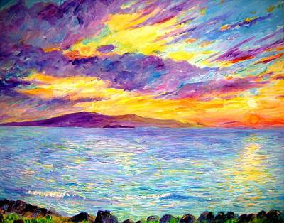 Pele Painting - Sunset Wailea Beach by Tamara Tavernier