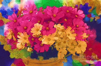 Sunshine In A Basket Print by Marion Headrick