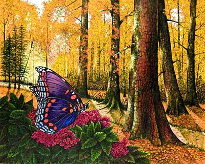 Sunshine Traveler-red Spotted Purple Print by Michael Frank
