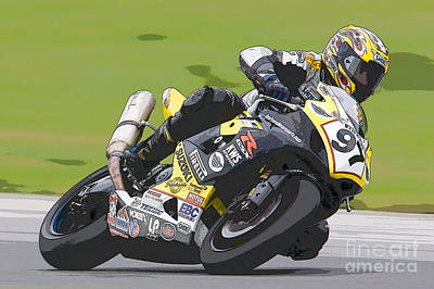 Superbike Racer II Print by Clarence Holmes