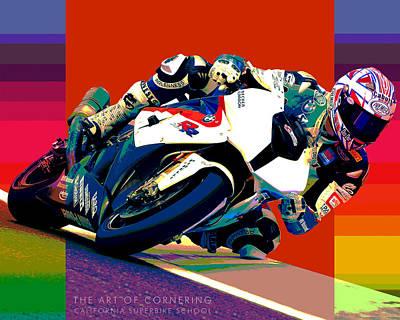 Superbike School Bmw Print by Barry Shereshevsky