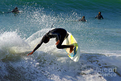 Sea Photograph - Surfer by Carlos Caetano
