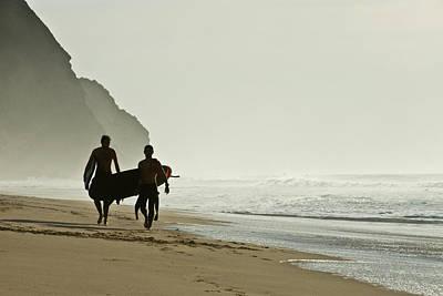 Surfers Print by Daniel Kulinski