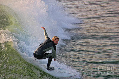 San Clemente Surfing Photograph - Surfin' The Wave by Mariola Bitner