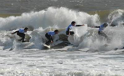 Surfing 219 Print by Joyce StJames