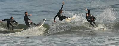 Surfing 229 Print by Joyce StJames
