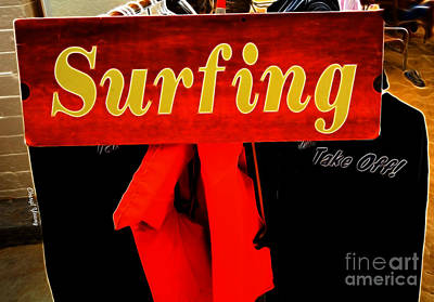 Surfing Print by Cheryl Young