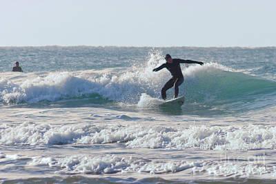Surfing The Atlantic Print by Brian Roscorla