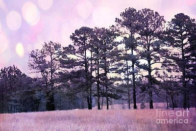Surreal Landscape Photograph - Surreal Fantasy Nature Purple Trees Landscape by Kathy Fornal