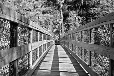 Suspension Bridge Print by Susan Leggett