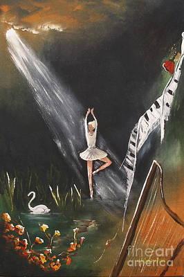 Swan Lake Print by Miroslaw  Chelchowski