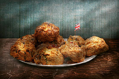 Sweet - Scone - Scones Anyone Print by Mike Savad
