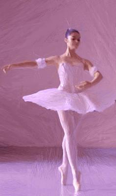 Dance Floor Painting - Sweet Ballerina by Steve K