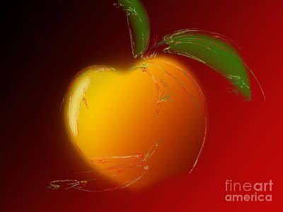 Sweet Peach 1 Print by Andee Design