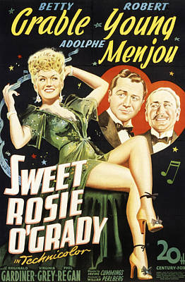 Sweet Rosie Ogrady, Betty Grable Print by Everett