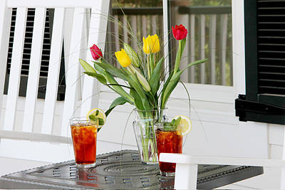 Sweet Tea And Tulips Print by Toni Hopper
