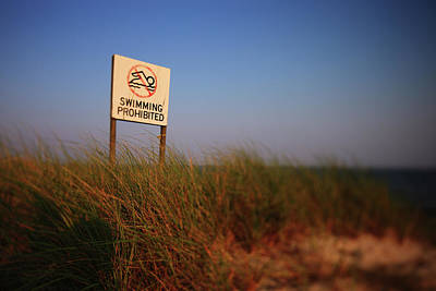 York Beach Photograph - Swimming Prohibited by Rick Berk