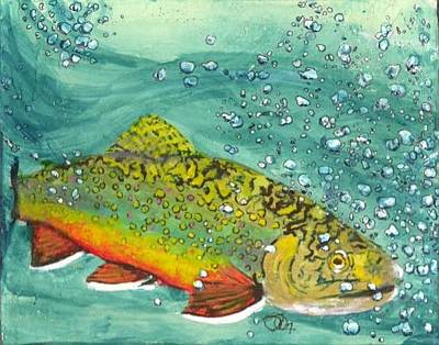 Swimming Upstream Original by Sheryl Brandes