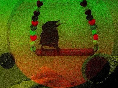 Wren Mixed Media - Swinging by YoMamaBird Rhonda