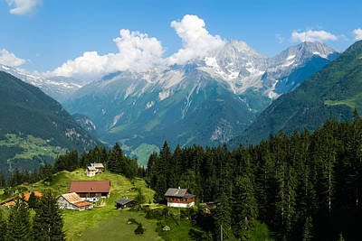 Y120817 Photograph - Swiss Alps by Thomas Lottermoser