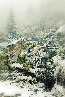 Stone House Photograph - Switzerland In Winter by Joana Kruse