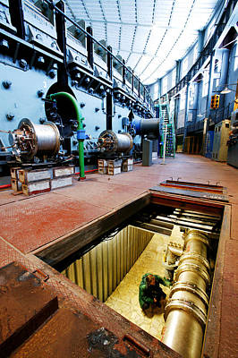 Synchrotron Particle Accelerator Print by Ria Novosti