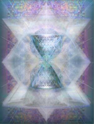 Proportions Digital Art - Synthesphered Chalice 'fifouray' On Tapestry by Christopher Pringer