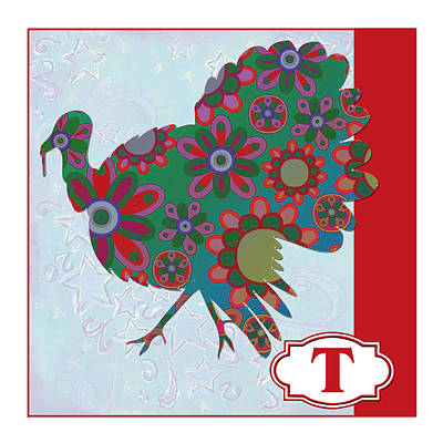 Education Painting - T Is For Turkey by Elaine Plesser
