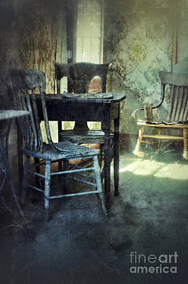 Haunted House Photograph - Table And Chairs by Jill Battaglia