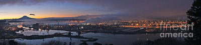 Tacoma Photograph - Tacoma Dawn Panorama by Sean Griffin