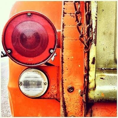 Truck Photograph - Tail Light  by Julie Gebhardt