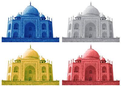 Taj Mahal Colorful Style Print by Atthamee Ni