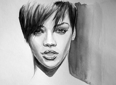 Rihanna Painting - Take A Bow by Bakhtiar Umataliev