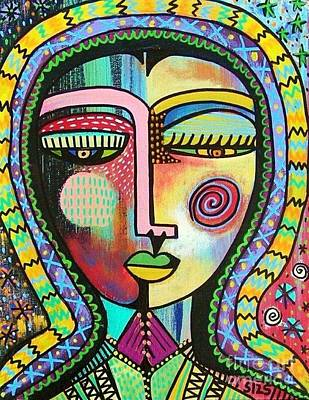 Seraphim Angel Painting - -talavera Virgin Of Guadalupe Protection by Sandra Silberzweig