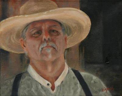 Character Studies Painting - Talkin' To Me? by Linda Eades Blackburn